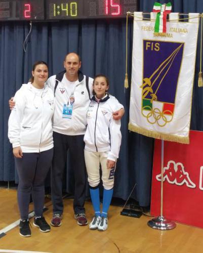 Nazionale Cadetti Spada, Rita ed Elisa a Novara