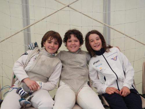 GPG Fioretto Giovanissimi. Marco, Tommaso e Michele